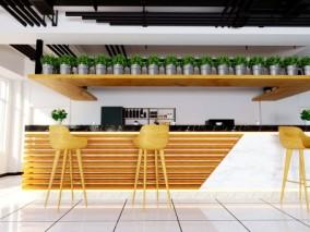现代餐桌椅 餐桌 餐椅 吧台 吧椅 吊灯 酒柜 装饰柜酒吧 厨房 木制 休息区 咖啡厅2