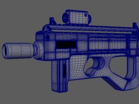 未来枪械高模 3d模型