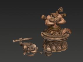 次世代 PBR 3D雕塑 佛像 佛祖雕像 3D模型 3d模型