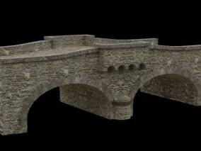 石头桥 古代桥梁 石拱桥 小型中式拱桥 古代桥梁 东方园林 3d模型