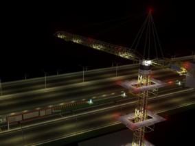 高架桥施工 模块化路桥吊装施工 铁路桥梁 轻轨桥梁 高架桥 施工现场 桥 道路 塔吊施工