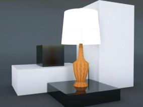 桌面灯 桌灯 电灯 灯具 功能灯 书房灯 床头灯 宜家 现代台灯 3d模型