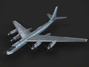 PBR 图95 tu95 图-95 Tu-95 远程战略轰炸机 3d模型