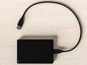 数据线 USB口 硬盘线 电脑配件 机械硬盘 移动固态硬盘 3d模型