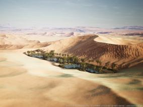 沙丘沙漠景观  3d模型