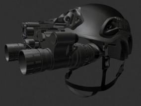 夜视仪 夜视头盔 战术头盔cg模型