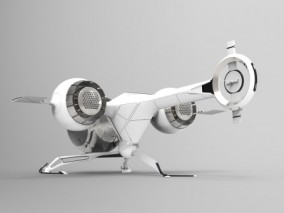 科幻飞行器3D模型(STP)