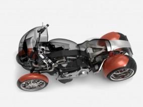 四轮摩托车3D模型