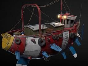 超写实飞艇CG模型