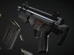 HK突击步枪 自动步枪 枪支cg模型