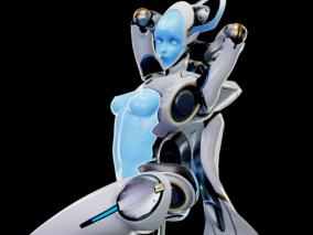回声 机器人 赛博朋克机器人 战斗机器人 守望者先锋cg模型