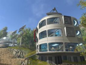 UE4科幻场景  科幻建筑