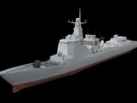 052D型驱逐舰 中国舰船 中低模 可软件程序开发使用 cg模型