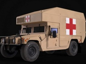 悍马救护车 军用救护车cg模型