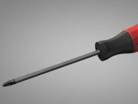 写实螺丝刀 五金工具 木工修理工具3d模型