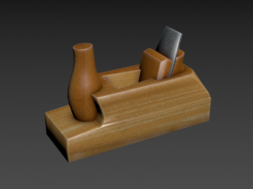 木刨 刨子 木匠工具 平刨 长刨 木工推刨 木工工具 传统工具  3d模型