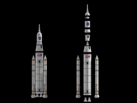 现代 航天 运载火箭 神州飞船 运输工具 飞行装置 3d模型