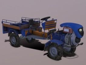 拖拉机 农用车 四轮车 翻斗车 农用车辆3d模型