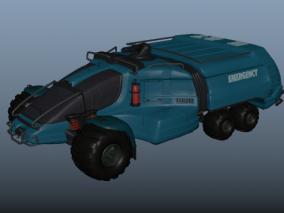 科幻火星登陆车 科幻越野车 装甲车 工程车 运输车 特种车 军事用车 3d模型