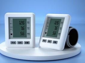 电子 医用血压计,医疗器材 简约白色血压计产品 C4D oc 3d模型