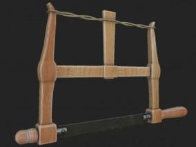 锯子 钢锯 手锯 木工锯cg模型