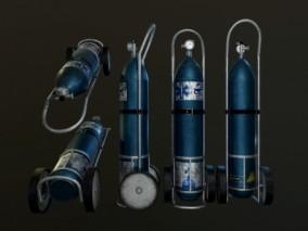 液化气罐 氧气瓶 氧气罐 煤气罐 瓦斯 3d模型