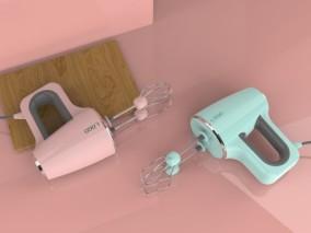 电动打蛋器 家用 搅拌器 搅拌机 打奶器 电动打奶器 厨房搅拌器具 3D模型