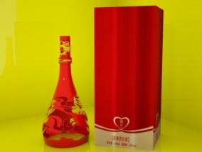 五粮液 茅台 国酒 果酒 洋酒 酒瓶 美酒 白酒 XO 定制 父亲节礼物 白兰地 3d模型