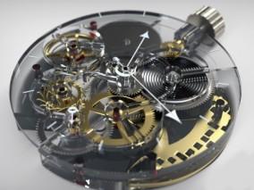 手表机械齿轮3D模型