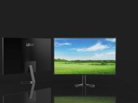曲面显示屏 4K电视 智能电视 平板电视机 液晶电视 电脑显示器 PC显示器 IPS显示屏幕3D模型