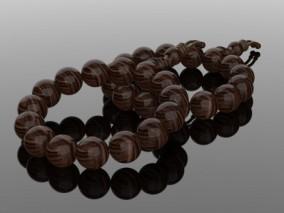 珠子 手珠 和尚珠子 佛珠 手链 首饰 手串 绳结 玛瑙手串手链3d模型