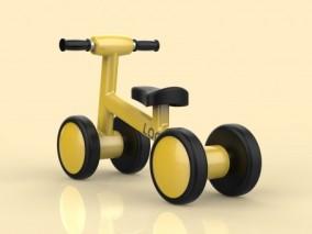 儿童三轮车 玩具自行车 儿童车 儿童学习车 儿童玩具车 脚踏车3d模型