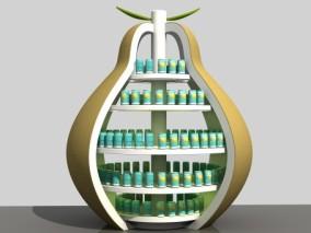 卡通梨 梨形货架 剖面梨 美陈堆头 创意美陈 礼品堆头 商场堆头展架模型 美陈3d模型