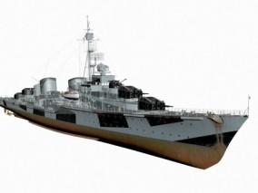 精细战舰3D模型