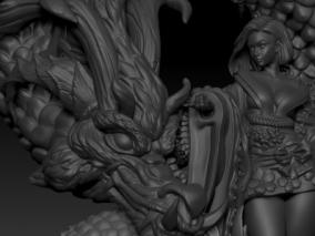 龙女 3d模型