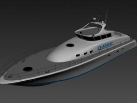 游艇 船只 快艇 海洋  3d模型