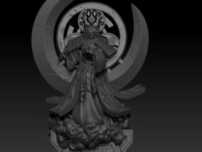 月读 日本神话人物 3d模型