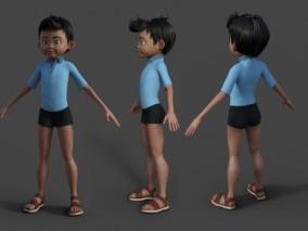 卡通男孩 小孩学生 男同学 小学生 3d模型