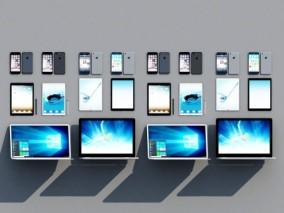 现代苹果手机 平板电脑 手提电脑 笔记本电脑3d模型