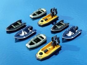 现代游皮艇 快艇3d模型