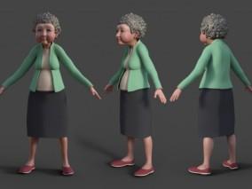 卡通老奶奶 老人 老妇人 路人 女人
