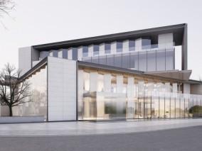 现代汽车4s店建筑外观3d模型