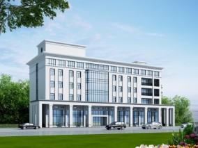 现代办公楼建筑外观3d模型