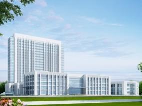 现代医院建筑外观3d模型