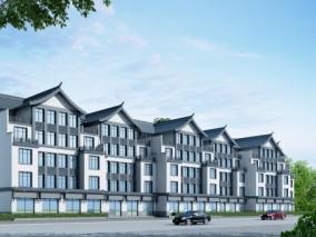 新中式商业街 住宅楼3d模型