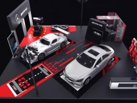 车展 展位 展台 静展 奔驰 AMG GT Black Series 跑车 梅赛德斯 A35L 展厅