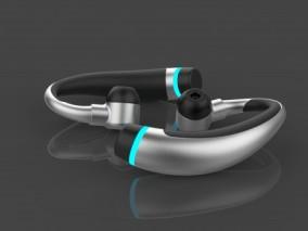 入耳式 便携式 运动耳机 电子产品 C4D 蓝牙无线耳机 3d模型