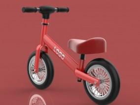玩具自行车 儿童车 儿童玩具车 儿童平衡车 3d模型