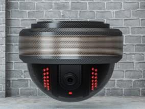 360全景摄像头 探头 监控器 监视器 安全监控设备 秒拍摄像头 监控仪 球机3d模型