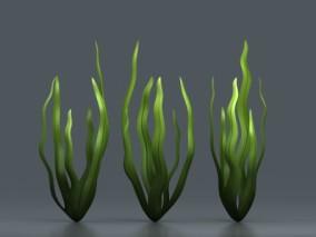 卡通海藻 手绘海草 水草 海带 水生植物 3d模型